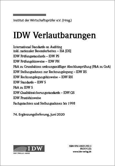 IDW Verlautbarungen