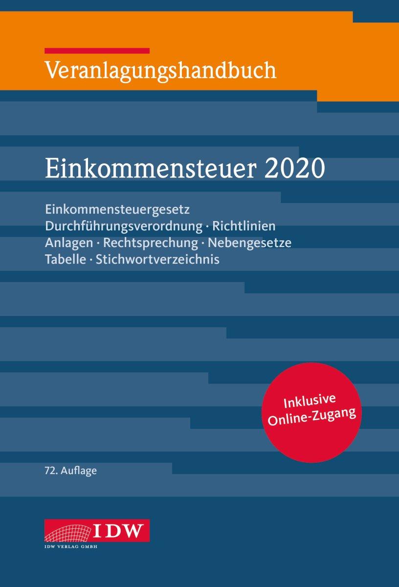 Veranlagungshandbuch Einkommensteuer 2020