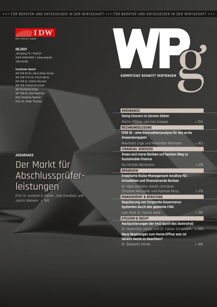 WPg - Die Wirtschaftsprüfung 7/2021