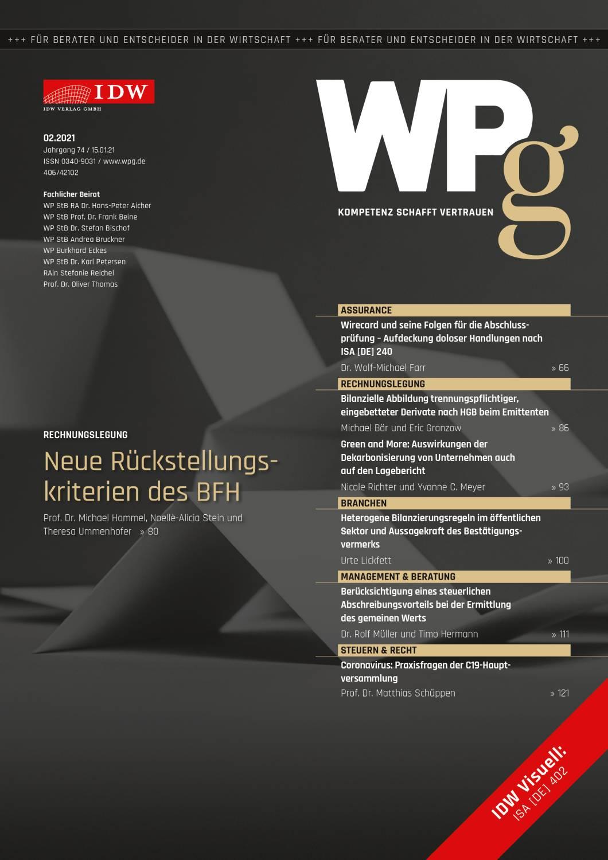 WPg - Die Wirtschaftsprüfung 2/2021