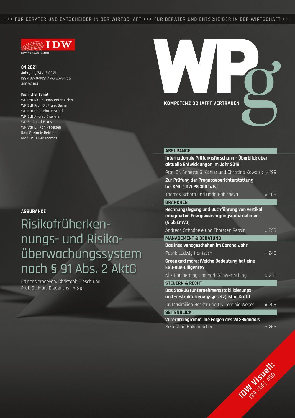 WPg - Die Wirtschaftsprüfung 4/2021