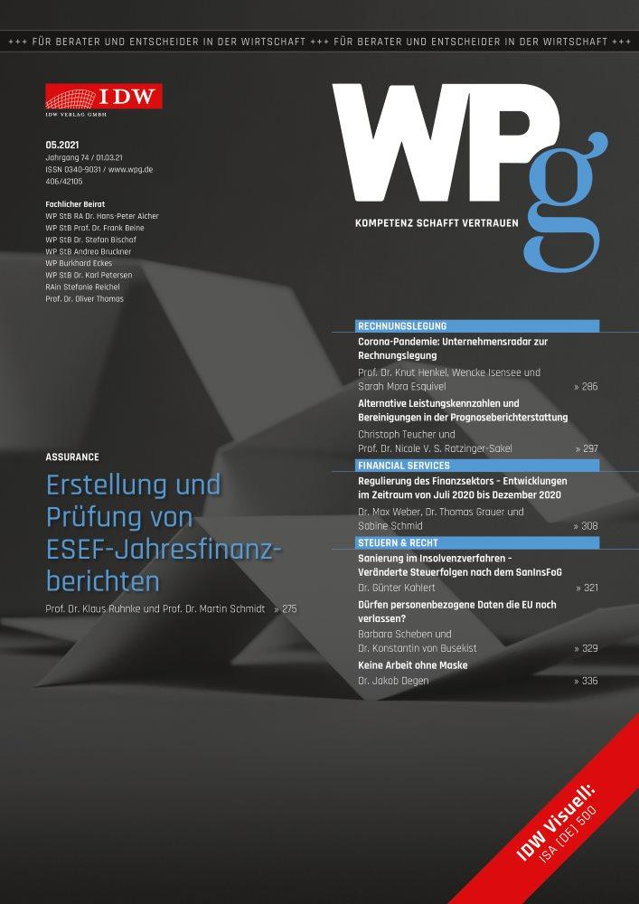 WPg - Die Wirtschaftsprüfung 5/2021