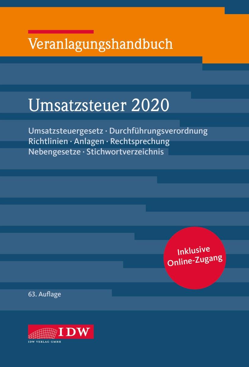 Veranlagungshandbuch Umsatzsteuer 2020