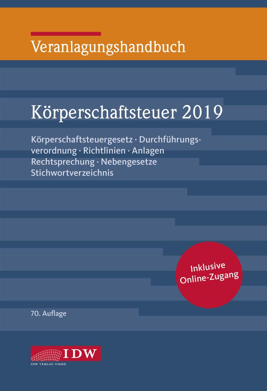 Veranlagungshandbuch Körperschaftsteuer 2019