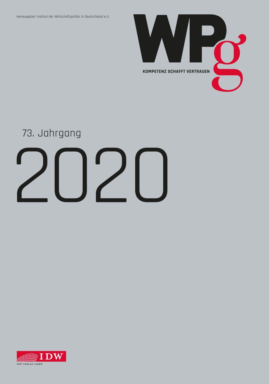 WPg - Einbanddecke 2020