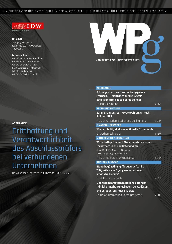 WPg - Die Wirtschaftsprüfung 5/2020