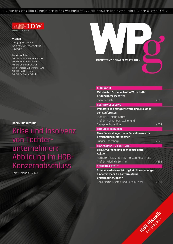 WPg - Die Wirtschaftsprüfung 11/2020