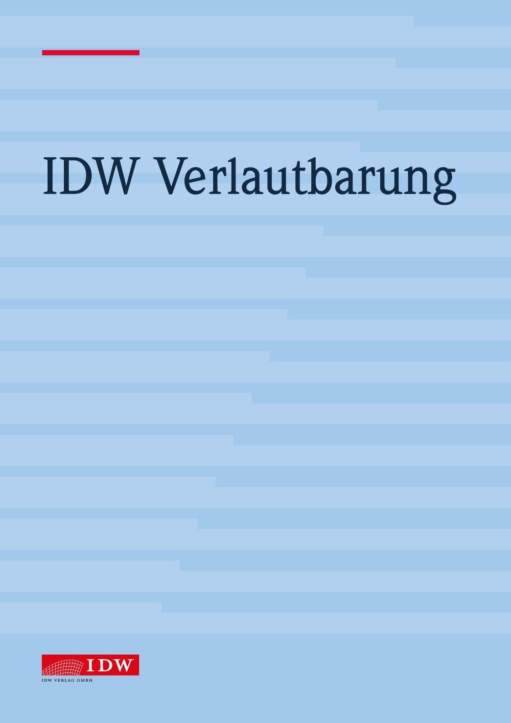 IDW Verlautbarung POD