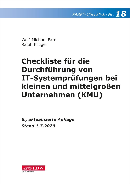 Checkliste 18 für die Durchführung von IT-Systemprüfungen bei kleinen und mittelgroßen Unternehmen (KMU)